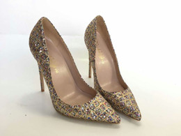 $enCountryForm.capitalKeyWord Canada - Keshangjia women Pumps Bling High Heels Women Pumps Glitter High Heel Shoes Woman Sexy Wedding Party Shoes Gold