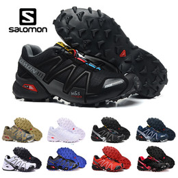 2017 shoes 2018 New Salomon Speed Cross 3 CS III Outdoor Male Camo Red Black Sports Shoes mens Speed Crosspeed 3 running shoes eur 40-46