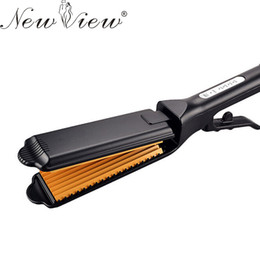 Chinese  NewView Hair Straightener Flat Iron Professional Ceramic Chapinha Straightening Corrugated Curling Curler Styling Tools manufacturers