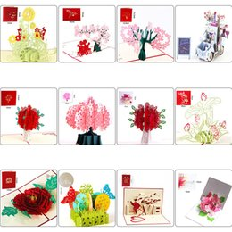 3d greeting cards flower love pattern creative stereo wedding party wish blessing thank you card for thanksgiving xmas new year