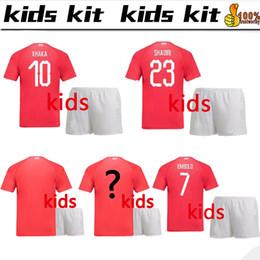 80b4b4801 kids Switzerland kit 2018 world cup Soccer Jersey EMBOLO XHAKA 18 19  Switzerland boys kids sets FOOTBALL SHIRTS ZAKARIA EMBOLO JERSEYS