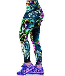 Yoga Pants Sales UK - Miduo Women's Digital Print Yoga Pants New Hot Sales Leggings Printed Women Fitness Workout Leggings