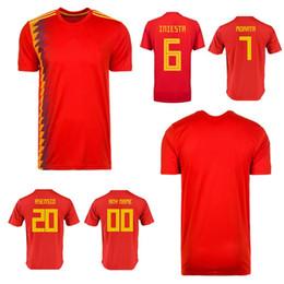 $enCountryForm.capitalKeyWord Canada - 2018 adults T-shirt Spain shirt 18 men shirts Best Quality adult Isco Ramos Espana Soccer Jerseys Customizable name Professional clothing
