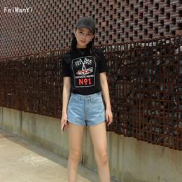 61507032a0f Feimanyi 2018 Style Women Denim Shorts Vintage High Waist Cuffed Jeans  Shorts Street Wear Sexy For Summer Spring Autumn