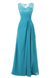 $enCountryForm.capitalKeyWord UK - Turquoise Long Evening Dresses Cheap 2018 Lace Top Pleated Formal Women Prom Dress Party Gowns Plus Size Real Photo Dresses Evening Wear