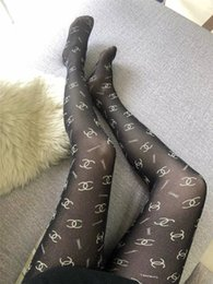 Wholesale black woman hose resale online - Black Sexy X Letter Panty Hose Luxury Fashion Spun Gold Full Letter Tights Brand Design Pantyhose Stocking