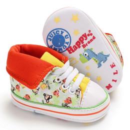 Wholesale Canvas High Shoes Australia - 2018 Fashion Baby Boy Girl Autumn Casual Shoes High Top Soft Sole Canvas Newborn Shoe Little Kids Floral Style Sport Sneakers