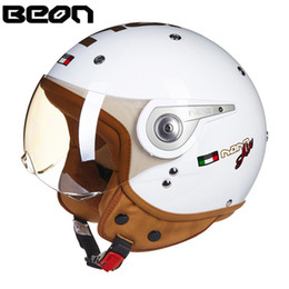 China Motorcycle Helmet Chopper 3 4 Open Face Vintage Helmet 11079 Vespa Moto Casque Casco motocicleta e Unisex ECE Helmets cheap helmet chopper suppliers