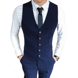 $enCountryForm.capitalKeyWord Australia - Male Solid Color Slim Business Affairs Fashion Waistcoat Men Senior Comfortable Leisure Full Dress Men Suit S-3XL High Quality