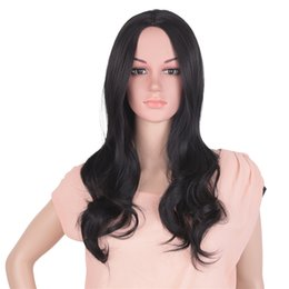 Full head wigs online shopping - Mtmei hair Synthetic High Temperature Fiber Ombre Wigs cm g Long Wavy Full Head Black Blonde Cosplay Wigs for Women