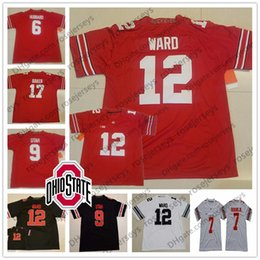 e88f25ba2 NCAA Ohio State Buckeyes  3 Michael Thomas 83 9 Johnny Utah 12 Denzel Ward  6 Sam Hubbard Jerome Baker White Red Black Jerseys