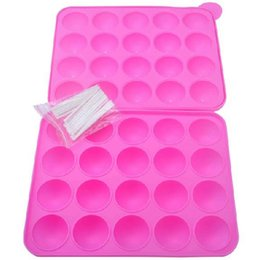China Silicone Cake Stick Pops Mould Cupcake Baking Tray Pop Mold Party Kitchen chocolate Tools 20 holes free shipiing #A18C supplier cake pop silicone mould suppliers