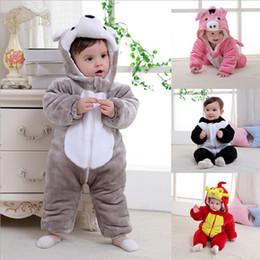 Pile Warmer Baby Boy Pagliaccetti Outfit Abbigliamento Newborn Tute Inverno  Neonata Con cappuccio Animal Costumes Bambini imbottito Coat 0-3 6221d48aafa