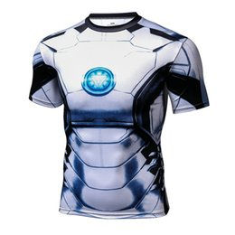 $enCountryForm.capitalKeyWord UK - Men's fashion creativity t-shirt white superman tights tee superhero Iron Man sport short sleeves cycling fast dry basketball vest