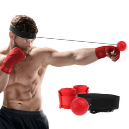 Wholesale gym fitness speed ball UFC mma and boxing training reflex ball with m hand wraps