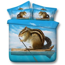 $enCountryForm.capitalKeyWord NZ - 3D Squirrel bedding sets animal duvet covers blue bedspread ocean beach comforter cover Bed Linen Quilt Covers bed cover for adults boys men