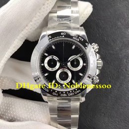 jh watches 2018 - 9 Style Swiss CAL.4130 JH Factory Men's Black Ceramic Bezel Cosmograph Automatic Chronograph Watch 116500 116500LN