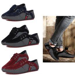 b3b0bc3de70 Zapatos casuales de hombre de Fahion Gamuza de cuero de hombre Mocasines  Zapatos Doug Respirable Slip on Boat Shoe British Style