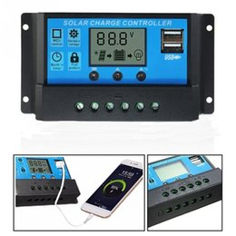 12v led controller online shopping - 10A A A V V LCD Solar Charge Controller with Auto Regulator Timer for Solar Panel Battery Overload Protection Lead acid batteries