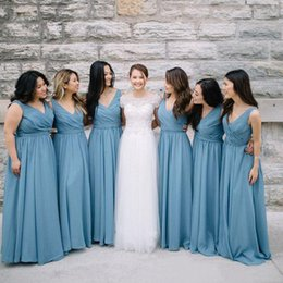 Bridesmaid dresses dusty blue uk