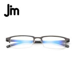 f8e27ac0586 JM Computer Reading Glasses Anti Block Blue Light Spring Hinge Half Frame  Metal Gaming Eyeglasses Reduce Digital Eye Strain