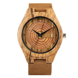 China Zebra Wood Watches for Men Fashion Circle Round Japanese Quartz Movement Casual Genuine Leather Wrist Watch Male Reloj de madera cheap japanese quartz movement suppliers