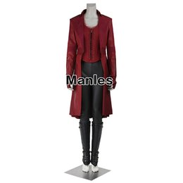 Civil War Costumes Halloween Australia - ostume football Scarlet Witch Cosplay Wanda Maximoff Costume Avengers Infinity War Captain America Civil War Red Halloween Costumes for W...