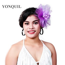 Crinoline Hair NZ - Charming multiple color crinoline fascinator headwear party headpiece silk flower millinery hair accessoiry suit for all seasons MD16015