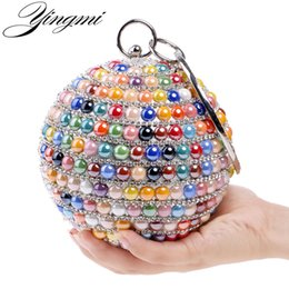 $enCountryForm.capitalKeyWord Australia - YINGMI Ceramics Fashion Women Evening Bags With Handle Day Clutches Bag Red Blue Gold Colorful Candy Color Diamonds Wedding Bag Y18110101