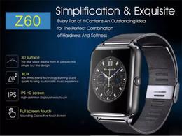Bluetooth Smart Watch Sim Australia - Bluetooth Smart Watch Z60 Wireless Smart Watches Stainless Steel For IOS Android Support SIM TF Card Camera Fitness Tracker MQ20