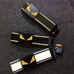Monster Canvas Belt Fashion Top Designer Belt for Men Sport Canvas Belt High Quality Men Canvas Belts from v cut bra manufacturers