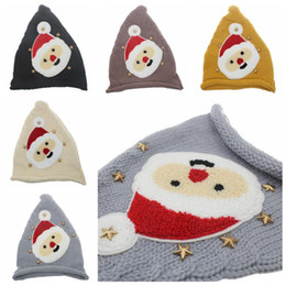 Knitting infant hats online shopping - 5 Colors Kids Christmas Knitted Caps Baby Santa Claus Knitting Hats Infant Knitted Cap Kids Xmas Hat Winter Beanies CCA10535