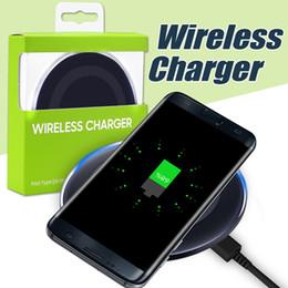 Vente en gros Pour Iphone X Universal Qi Chargeur sans fil pour Samsung S6 Note 8 Galaxy S7 Bord Pad de charge mobile avec câble USB avec boîte