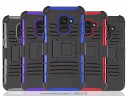 Clear Rugged Cases NZ - For Samsung galaxy A8 2018 A8 plus S8 active Hybrid Case Rugged Impact Rubber Matt Shockproof Heavy Hard Belt Case for S9