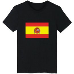 $enCountryForm.capitalKeyWord Australia - Espana t shirt Spain flag short sleeve Banner tees Leisure unisex clothing Black white grey cotton Tshirt