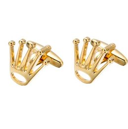 $enCountryForm.capitalKeyWord UK - Fashion Crown Cufflinks Top Tuxedo Shirt Button Bonito Wedding Groom Laser Cuff links Perfect Quality Men Jewelry Z556