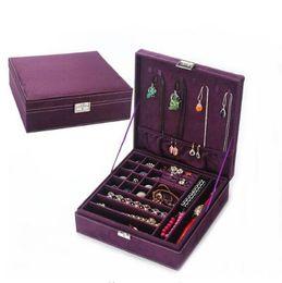 Vetrina di velluto Gioielli Collane Orecchini Bracciali Anelli Scatole di immagazzinaggio Scatole per trasporto regalo per gioielli