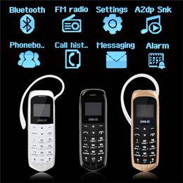 $enCountryForm.capitalKeyWord Australia - J8 Bluetooth Dialer Mini Mobile Phone 0.66 inch Screen Support FM Radio Micro SIM Card Hands Free Car Music Headset Pocket Mini Phone