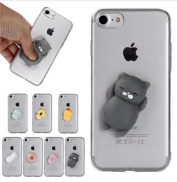 $enCountryForm.capitalKeyWord Canada - For iPhone 8 3D Cute Soft Squishy Case Cover Rubber Cat Duck Capinha for iPhone 5 5s 6 6s s 7 8 Plus 6Plus 7Plus X Hoesje Etui