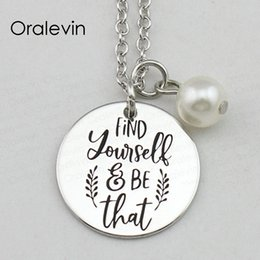 $enCountryForm.capitalKeyWord Australia - FIND YOURSELF BE THAT Inspirational Hand Stamped Engraved Custom Charm Pendant Chain Necklace Handmade Jewelry,18Inch,22MM,10Pcs Lot,#LN2393