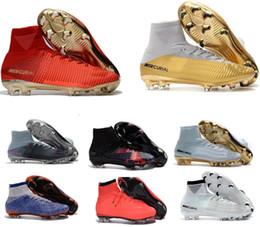 Neymar shoes New online shopping - New Men Mercurial Superfly CR7 FG AG Football Boots Cristiano Ronaldo High Tops Neymar JR ACC Soccer Shoes Magista Obra Soccer Cleats