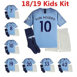 2018 19 Kids Kits Soccer Jersey City De Bruyne G.jesus Sane Kun Aguero  Uniforms Silva Bernardo Sterling Kompany Man 2019 Boys Football Shirt 268714a02990d