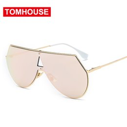 $enCountryForm.capitalKeyWord NZ - New Sunglasses Men Women Big Frame Mirror Lens Popular Summer Wear Eyeglasses Love Sun Glasses High Quality Eyewear