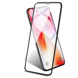 Для нового Iphone Xs Max XR X 8 7 6 6s Samsung S9 Note8 S8 Plus galaxy Note 9 8 закаленное стекло полноэкранный цветной протектор 3D изогнутый край S7