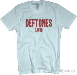 Опт Deftones Сакто футболка S-M-L-Xl новый официальный футболка мужчины выродок с коротким рукавом хлопок пользовательские большой размер пара футболки