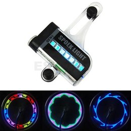 Motorcycle Lights Australia - 14 LED Motorcycle Cycling Bicycle Bike Wheel Signal Spoke Tire Light 30 Changes