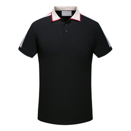 floral polo UK - brand new High quality Spring Summer autumn Luxury designer casual polos t shirts tees polo man shirt snake bee floral embroidery mens polos