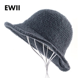 $enCountryForm.capitalKeyWord Canada - Women winter sun hat autumn knitted wool caps women wide brim fedora cap ladies fashion foldable casual hats chapeau femme