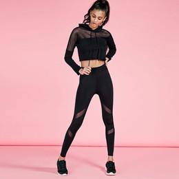 Black Yoga Sets Canada - Wholesale Women Yoga Top + Sports Pants Sport Suit Yoga Set Running Fitness Training Clothing for Women Sportswear for Women Fitness TZ8