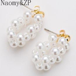Ingrosso Orecchini pendenti similati di perle NaomyZP per bijoux di gioielli da donna Orecchini pendenti di grande richiamo Boho Bohemian Hanging Dangle